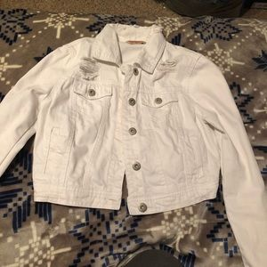 White jean jacket from Rue21